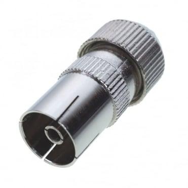 Female Coaxial Socket TV RF Self Crimping Coax Plug