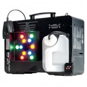 Fog Fury Jett RGB Vertical Geyser Smoke Machine LED DMX Light Effect inc Remote