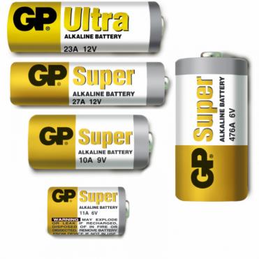 GP High Voltage Alkaline Batteries - Battery Type 11A 23AE 4LR44 & 27A