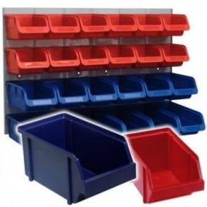 Heavy Duty Wall Mounted Louvre Panel Kit 24 Polymer Bin Tuff Parts Storage Bins