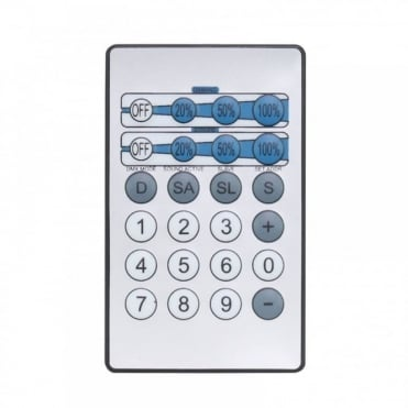 IR Remote for LEDJ Lighting Effects CW, WW and UV Fixtures