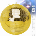 "UKDJ Large Gold Mirror Dance Disco Party DJ Ball Decor 500mm 20"" Golden Mirrorball"