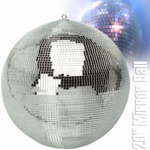 "Large Silver Mirror Dance Disco Club Party DJ Ball 500mm 20"" Mirrorball"