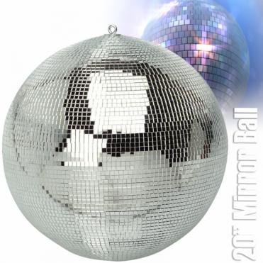 "Large Silver Mirror Dance Disco Club Party DJ Ball 500mm 20"" Mirrorball"