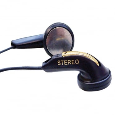 Lightweight DBBS Stereo Black Gold Earphones for Schools Tour Companies
