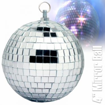 "Lightweight Silver Mirror Decor Office Party Wedding DJ Ball 100mm 8"" Mirrorball"
