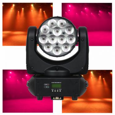 Lumen8 Kudos CM 200ZS 12 x 10W Quad-Colour LED Moving Head Flood