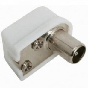 Male Right Angle RF Coaxial TV Aerial Connector Plug 90 Degrees Digital Coax