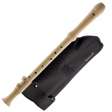 Maple Tenor Recorder With Baroque Fingering, Two Keys