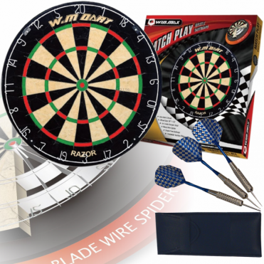 Match Quality Bristle Dartboard With Staple Free Blade Wire Spider Technology