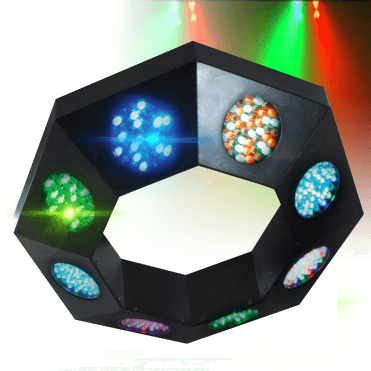 NJD LED Professional Lighting Effect Octo Circ Sound To Light DMX DJ Disco Colour Flood
