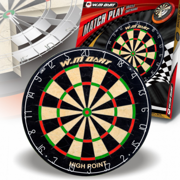 "Official Match Size Bristle Dartboard 18"" Staple Free Blade Wire Spider"