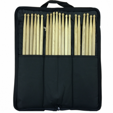 Pack of 10 Pair Oak Wood Drum Sticks 2B 5A 5B 7A SRH inc Bag