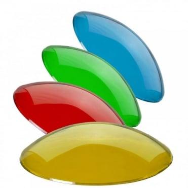 Par36 Pin Spot Gel Filter 4 Round Plastic Colour Blue Green Red Yellow Pinspot