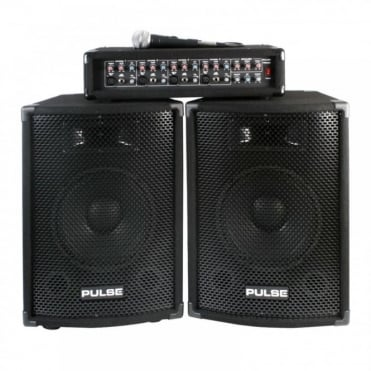 PMH200KIT 200w DJ PA System Kit Package Speakers & Amplifier + Mic/Leads