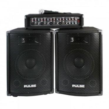PMH200KIT 200w DJ PA System Kit Package Speakers & Amplifier + Mic/Leads