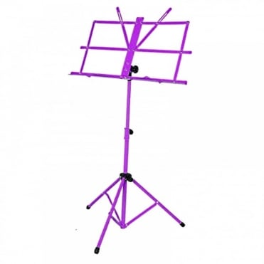 Purple Metal Adjustable Sheet Music Stand Holder Folding Foldable
