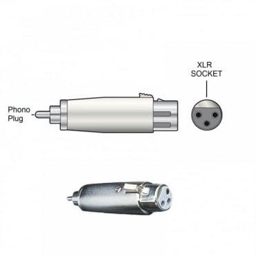 RCA Phono Plug Male to XLR Socket Female Adapter