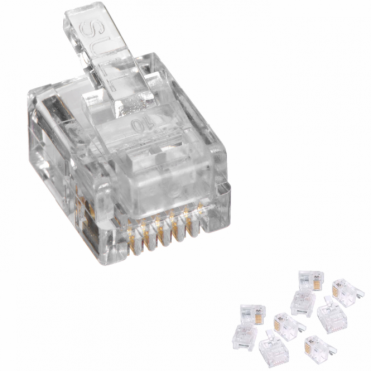 RJ12 6 Position 6 Conductor Modular Plugs Phone ADSL Network 6P6C