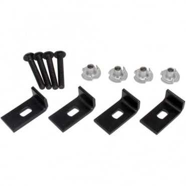 Set of 4 Heavy Duty Speaker Clamp Kit inc T nuts and Bolts