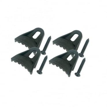 Set of 4 Plastic Speaker Clamp Kit inc 4 x 18mm Wood Screws