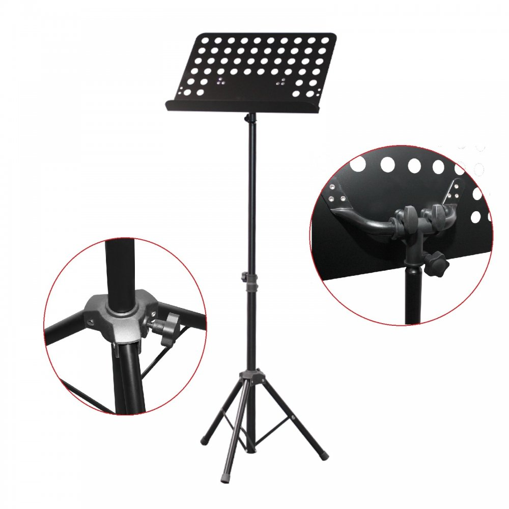 sheet music stand with height and angle adjustment. Black Bedroom Furniture Sets. Home Design Ideas