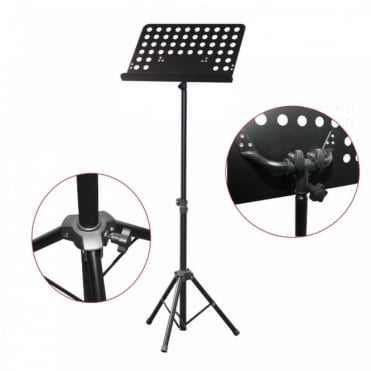 Sheet Music Stand with Height and Angle Adjustment Dual Locking Mechanism