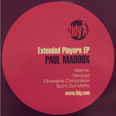 Tidy Paul Maddox - Extended Players EP Vinyl Record Seismic Medusa