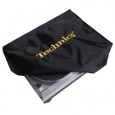 Turntable Cover Technics Logo Deck Logo Black and Embroidered Gold Dust Cover