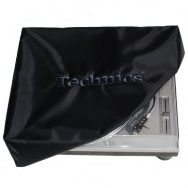Turntable Dust Cover Technics Deck Logo Black & Embroidered Black
