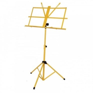Yellow Metal Adjustable Sheet Music Stand Holder Folding Foldable