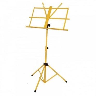 Yellow Metal Adjustable Sheet Music Stand Holder Folding Foldable