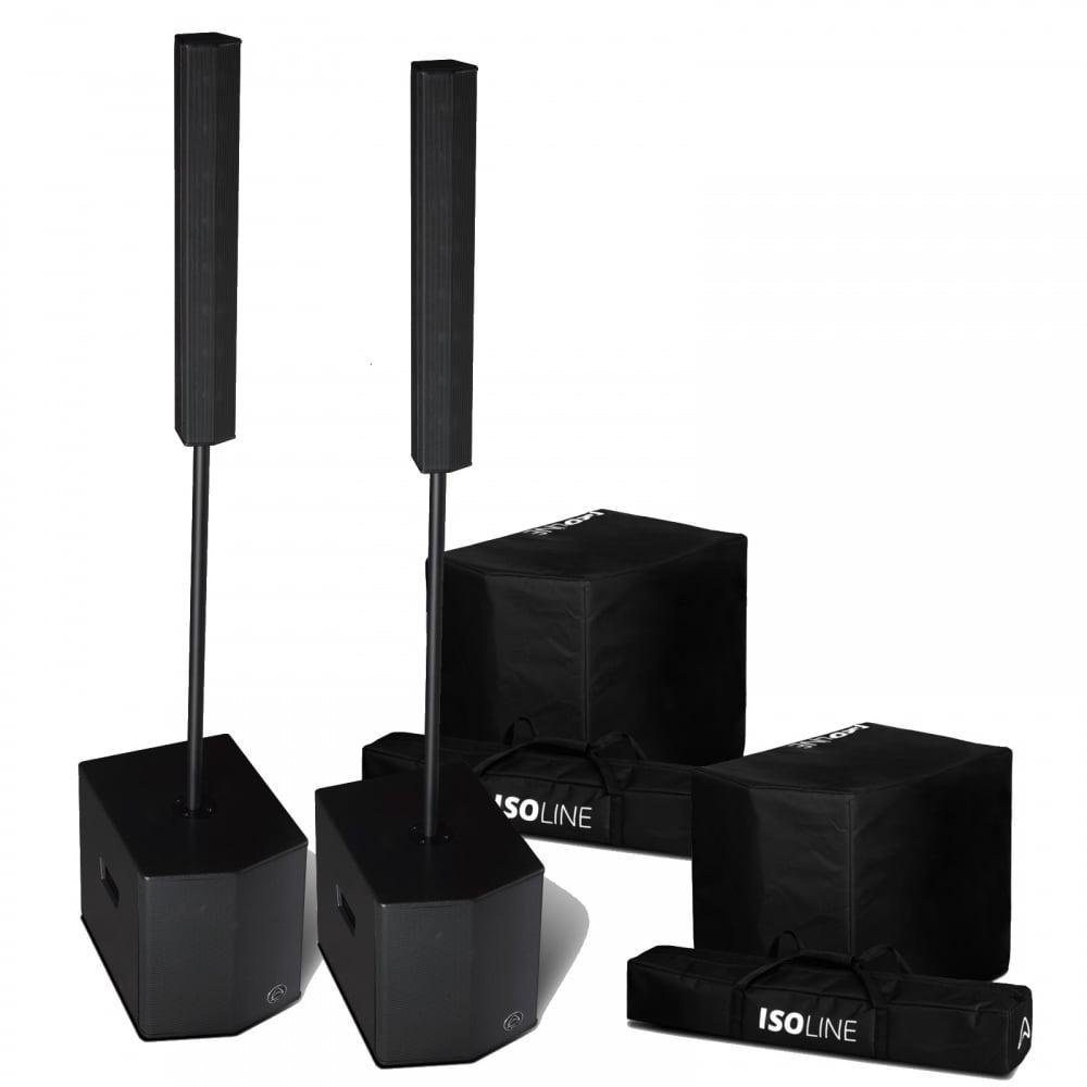 isoline 812 v8 mid high s12 sub 1600w active pa dj speaker system. Black Bedroom Furniture Sets. Home Design Ideas
