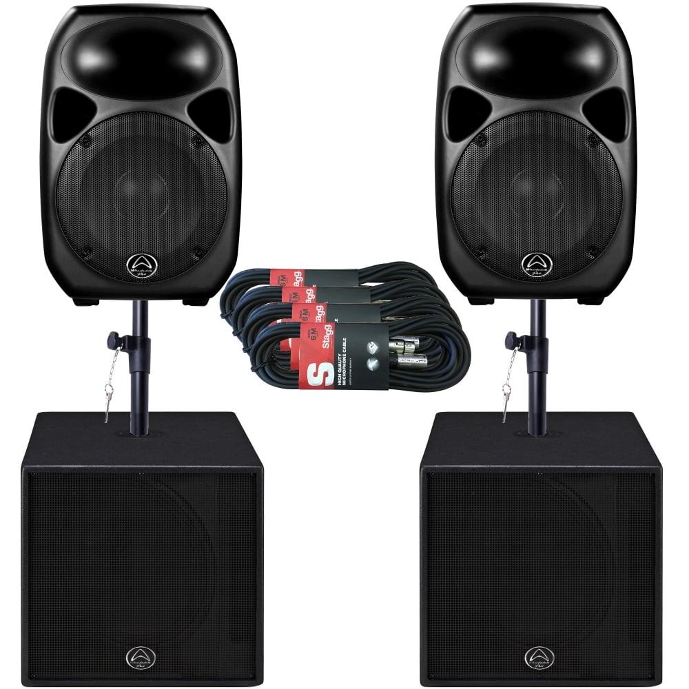 titan 12d sub15a 2k watt active pa dj speaker sound system package. Black Bedroom Furniture Sets. Home Design Ideas