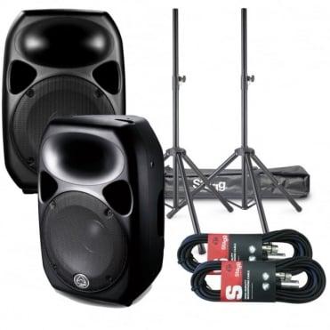 "Titan Active Speaker 1000 Watt 12"" DSP Digital Kit Inc Stands & Leads"